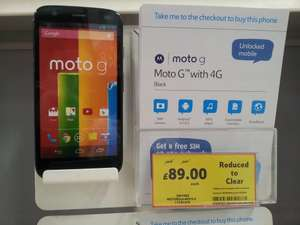 Moto G 4G unlocked/sim free for £89.00 in Tesco