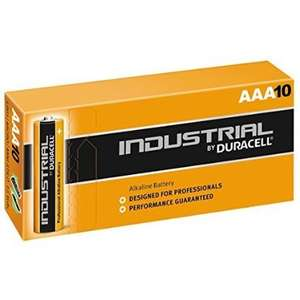 Duracell Industrial Batteries 10 x AAA  £2.63 Amazon - Dispatched by Simply Direct ltd.