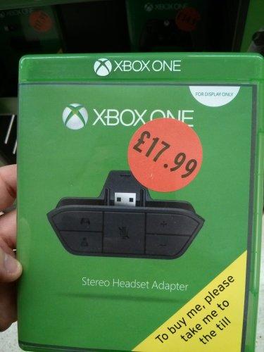 XBone stereo headset adapter £17.99 @ Sainsbury