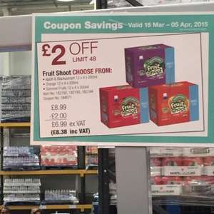 Robinsons fruit shoot (box 48) £8.38 @ Costco