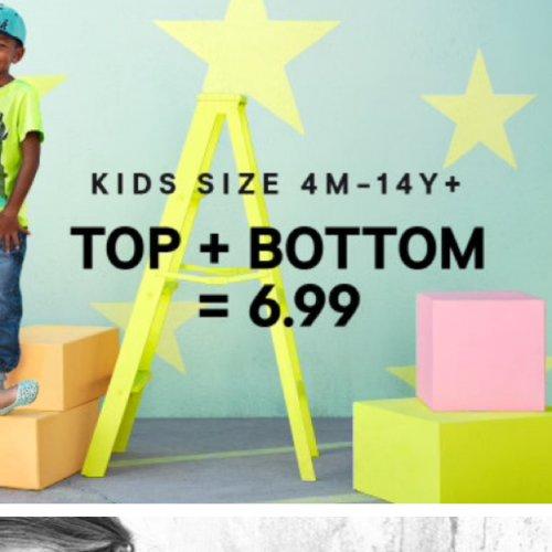 H&M kids top+bottom (4m-14y+)  - £6.99 @ H&M