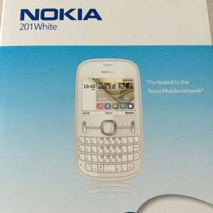 Nokia asha 201 white (other colours too) on Tesco mobile £9 in store