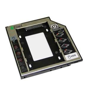 Convert laptop DVD drive to SSD - EiioX SATA 2nd 2.5'' Hard Drive Caddy - £8.95 + £3.99 P&P (free on £10 orders or prime) £12.94