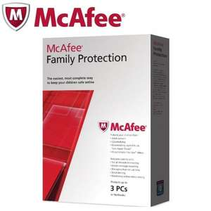 Mcafee Family Protection 2012 Protect Up To 3 Pcs/Netbooks 12Months Subscription @ Tesco outlet ebay