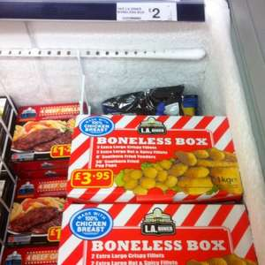 L.A. DINER Boneless Box of Chicken 1kg £2.00 @ Farmfoods