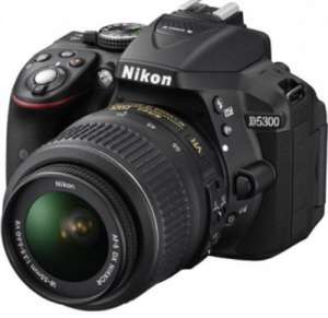 Nikon d5300 with 18-55mm VR ll lens & 8GB card £369 portusdigital
