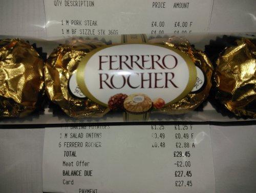 Ferrero Rocher 4 pack 48p at Morrisons