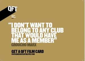 QFT (Belfast) Film Card deal with Groupon £10 (from Monday 30th March)