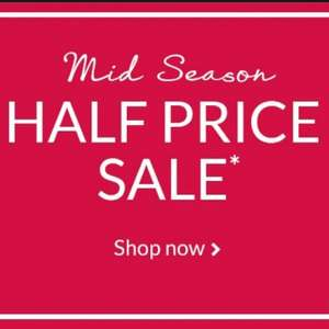 Debenhams HALF PRICE mid season SALE