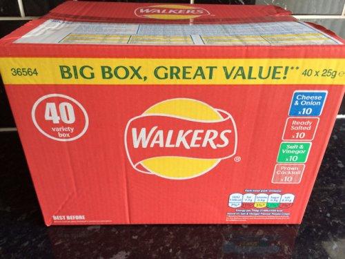 Walkers crisps -40 pack box £4.00 asda instore