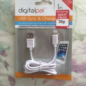 digitalpal iphone 5/6 iPad USB charge & sync cable 99p at Buyology stores