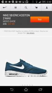 Nike air max £37.99 plus £4.50 p&p Nike Store
