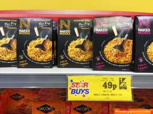 Naked Noodle Stir Fry - choice of Singapore Style or Sweet Chilli 49p in Home Bargains