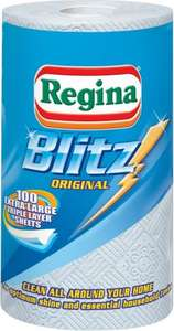 Regina Blitz Kitchen Towels  Half Price - 100 Sheets per Roll £1.24 @ Morrisons