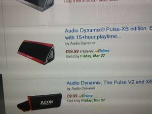 Audio Dynamix Pulse V2 XB Edition Bluetooth Speaker £59.99 Sold by Audio Dynamix Ltd and Fulfilled by Amazon.