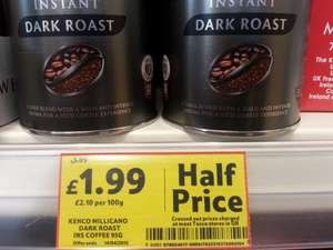 Kenco Millicano Dark Roast 95g - £1.99, Wholebean Instant 100g - £2.00, Wholebean Sunlight Blend 95g - £2.00 & Caffe Free 100g - £2.37 in Tesco