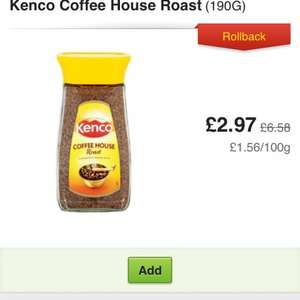 Kenco 'Coffee House roast' 200g - £2.97 @ Asda