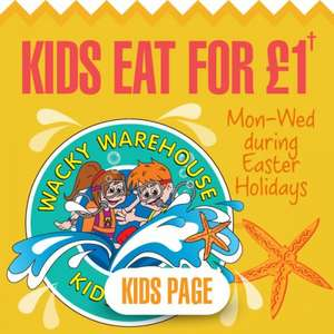 Fayre and Square Kids eat for £1 Monday-Wednesday 30th march-15th April when an adult buys a main meal