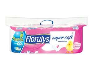 FLORALYS Super Soft 4-ply Toilet Tissues (10 Rolls x 160 sheets) ONLY £3.09 @ Lidl