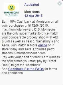 Use your Halifax debit & credit card and get 10% cash back at Morrisons