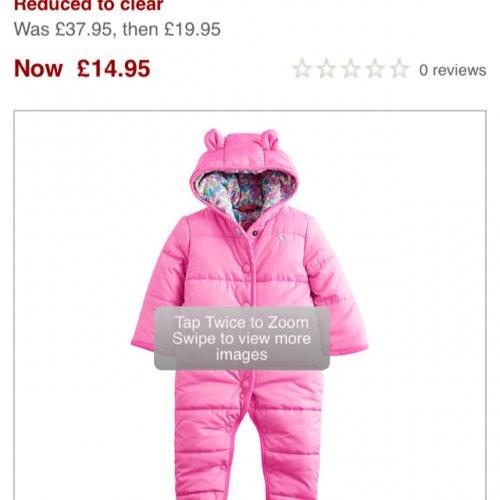 Baby joules snowsuit  £14.95 @ John Lewis