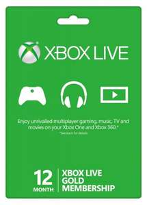 12 Month Xbox Live Gold Membership £21.85 Xbox One/360 (Facebook Code) @ CDKeys