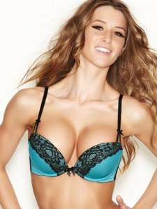 TRIPLE BOOST Teal/Black Plunge Bra OVER 60% OFF £13.50 @ AnnSummers