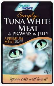 Feline Fayre Chicken Fillets in Jelly or Tuna & Salmon in Jelly - Pouch (85g) was 86p now 5 pouches for £2.00 @ Asda