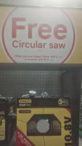 Stanley Fatmax power tools from £79.99 & get FREE circular saw @ Homebase