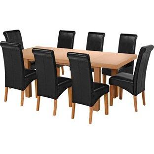 Oak Veneer Dining Table & 8 Chairs WAS £999.99 NOW £399.99 @ argos