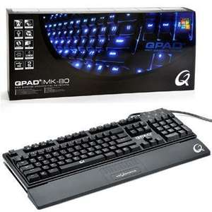 Qpad MK-80 Pro Gaming Backlit Mechanical Keyboard - MX Brown £77.71 @ AmazonUK  sold by After Hours Computers Ltd.