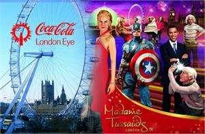 Madame Tussauds, Coca Cola London Eye & Tower Bridge £43.60 (1 Person) + topcashback @ Discount London