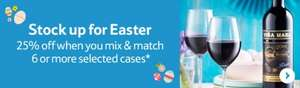 Tesco wine by the case 50% off + an extra 25% off when you buy six cases PLUS 1500 clubcard points worth up to £60 in clubcard boost rewards when you spend £140 or more.....