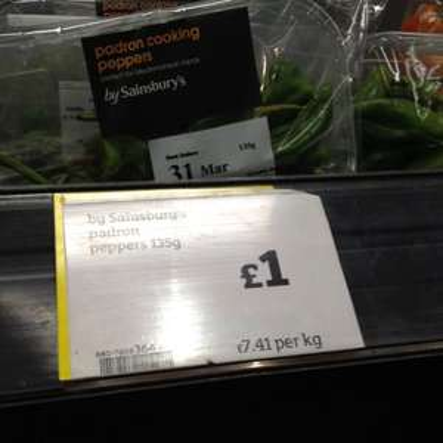 Padron Peppers (Tapas) £1 @ Sainsbury's