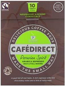 "Cafédirect Fairtrade Peruvian Spirit Coffee Pods (6x10 Pack) (Nespresso) £5.41 ""Add-on"" item @ Amazon"
