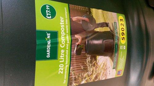 220 litre compost bin £17.99 @ Aldi