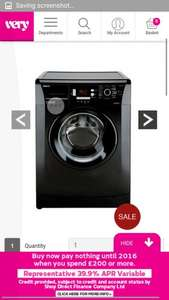beko washing machine 7kg load 1400 spin £199 very
