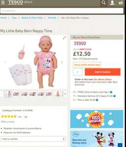 Baby born nappy time £12.50 @ Tesco