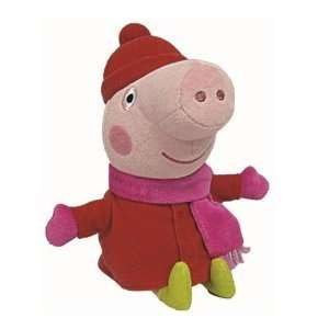 Various TY Peppa Pig Beanie Toys only £3.75 with free click & collect @ The Works [Muddy Puddles / Winter George & Peppa]
