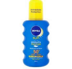 Nivea sun cream and spray BOGOF Tesco grocery instore and online - £7