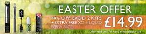 EVOD 2 Vaping starter kit - 40% off list price and 25% off today with code. £14.99 @ liberty-flights