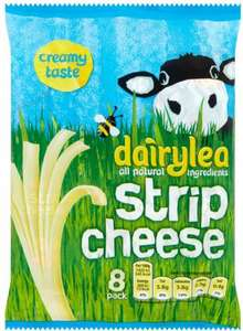 Dairylea Strip Cheese (8 Pack = 168g) was £2.50 now £1.25 @ Tesco
