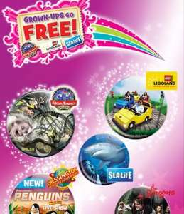Grown ups go free to Alton Towers Leopard Sealife Madame Tassauds etc @ Kellogg's