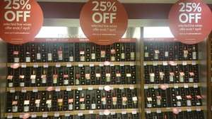 25% off selected fine wines at waitrose c&c