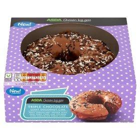 * Chosen By You Giant Doughnut Cake Triple Chocolate/Toffee Fudge/Jazzie Raspberry now £1.50 each @ ASDA *