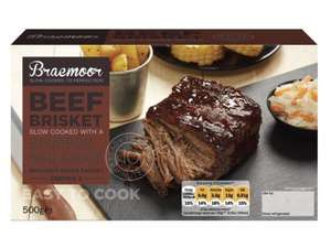 Lidl BRAEMOOR Beef Brisket 50% off Only £1.99 500g Apr 3-4 only