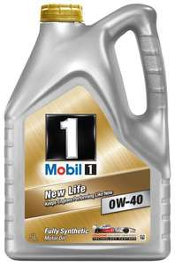 Mobil 1 New Life 151048 0W40 Fully Synthetic Motor Oil 5L @ Amazon £35.94