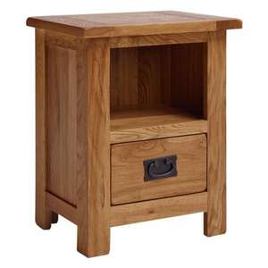 Wren Living Extra 25% off Slelected Products. STRATFORD OAK 1 DRAWER BEDSIDE TABLE
