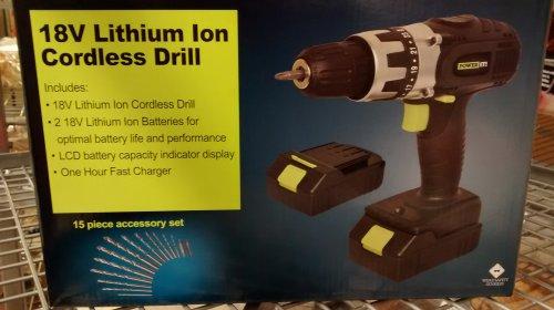 18v lion cordless drill £30 asda + spare battery