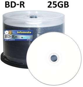 Infomedia BD-R 25GB HTL recordable Blu-ray discs. 50 spindle £16.94 Sold by Blank-Discs-Com SuperSaver and Fulfilled by Amazon
